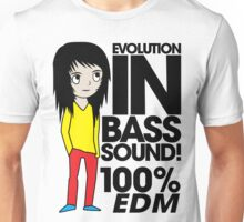 Evolution In Bass Sound 100% (black) Unisex T-Shirt