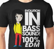 Evolution In Bass Sound 100%  Unisex T-Shirt