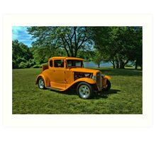 1931 Ford 5 Window Coupe Hot Rod Art Print
