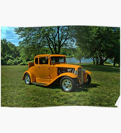 1931 Ford 5 Window Coupe Hot Rod Poster