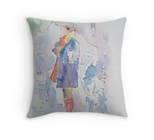 On the street Throw Pillow
