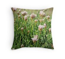 Flowers at Lands End Throw Pillow