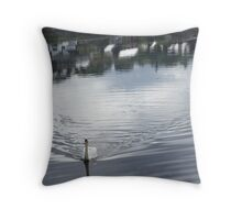 Swan, at Donegal, Ramelton IRELAND Throw Pillow