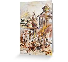 Old city, fall Greeting Card