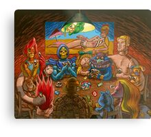 Toys Playing Uno Metal Print