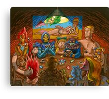 Toys Playing Uno Canvas Print
