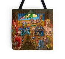 Toys Playing Uno Tote Bag