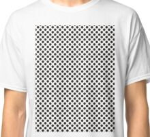 Black Polkadots on Invisible Background Classic T-Shirt