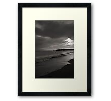 Just as the sun was rising Framed Print