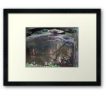 Rock Bridge Pool Framed Print