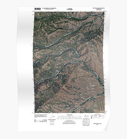 USGS Topo Map Washington State WA Pine Mountain 20110404 TM Poster