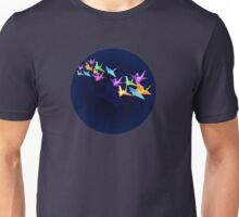 Crane and moon Unisex T-Shirt