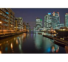 Canary Wharf by Night Photographic Print
