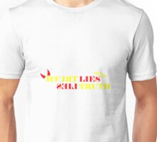 The merge of truth and lies Unisex T-Shirt