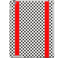 Black Polkadots on White with Red Stripes Design iPad Case/Skin