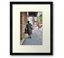 Shopping Day Framed Print