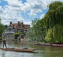 Punting on the River Cam by cameraimagery