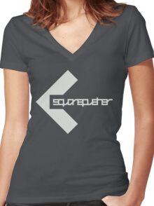 sp dark Women's Fitted V-Neck T-Shirt