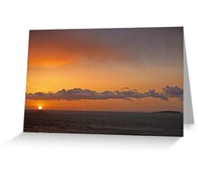 Sunrise over the Isle of May Greeting Card