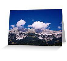 Fluffy Mountain Clouds - Wilder Kaiser Greeting Card