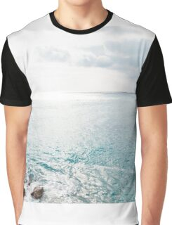 Blue Sea and sky background Graphic T-Shirt