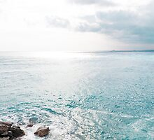Blue Sea and sky background by moonbloom