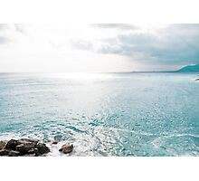 Blue Sea and sky background Photographic Print