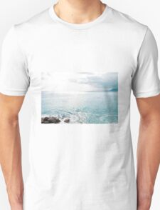 Blue Sea and sky background Unisex T-Shirt