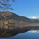 Kilchurn Castle Reflects on Loch Awe. by David Alexander Elder
