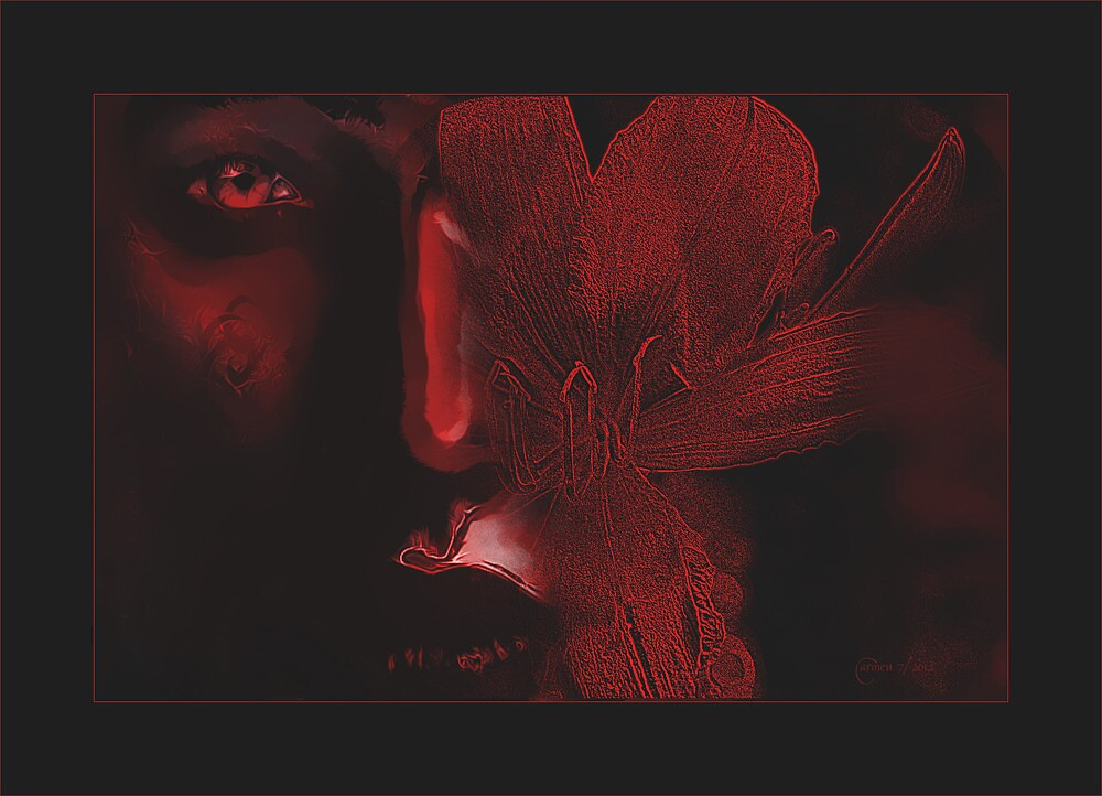 RED... Energy,Love, Darkness, Hope, Creation, Destruction, Redemption by Carmen Holly