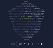 The Legend of Zelda Shield Poem by alphabean11