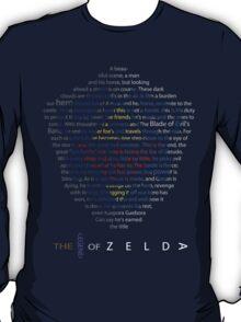 The Legend of Zelda Shield Poem T-Shirt