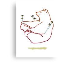 Bear float Canvas Print