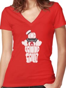 Who You Gonna Call? Women's Fitted V-Neck T-Shirt