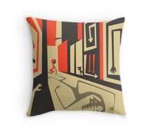 Little Red, Big City Throw Pillow