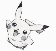 picachu smiling drawing by pacmen