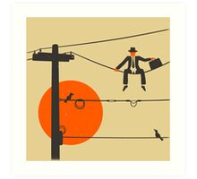 Man On A Wire Art Print