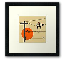 Man On A Wire Framed Print