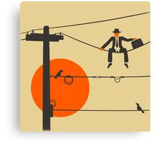 Man On A Wire Canvas Print