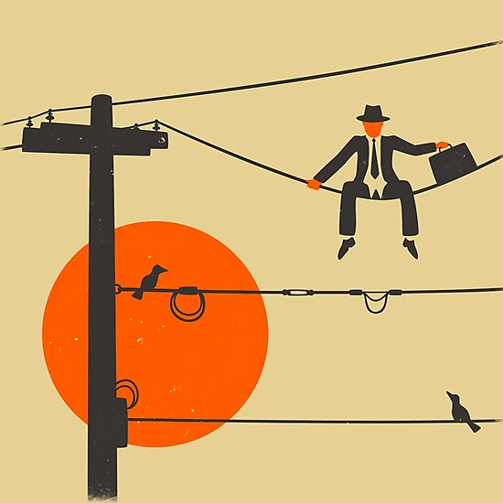 Man On A Wire by JazzberryBlue
