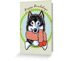 Alaskan Malamute Happy Howlidays Greeting Card