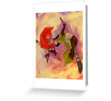 Marcus Flint and Oliver Wood Greeting Card