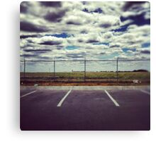 Parking at the Fence. Canvas Print