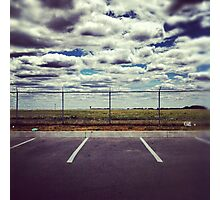 Parking at the Fence. Photographic Print