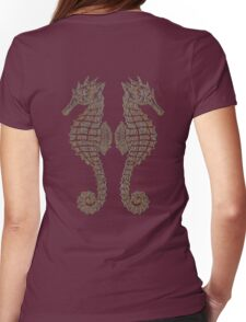 Vintage Tribal Sea Horses Womens Fitted T-Shirt