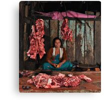 Nepalese butcher Canvas Print