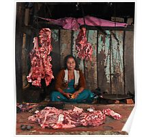 Nepalese butcher Poster