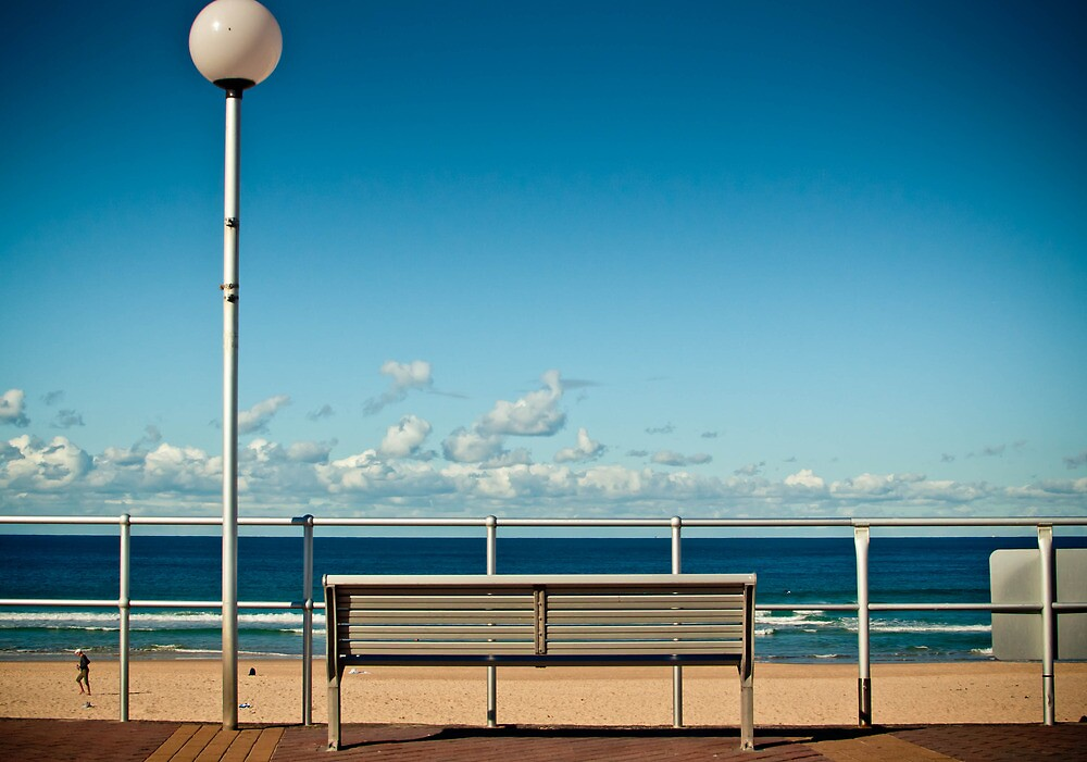 Bondi Beach Bench  by cyasick