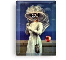 Death With Apple Canvas Print