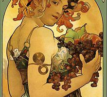 Alphonse Mucha Painting by Heidi Hermes